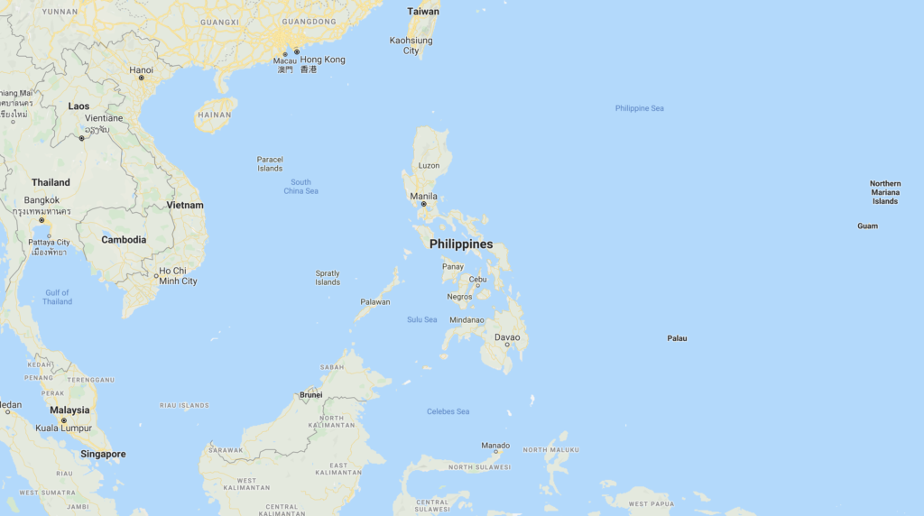 Screenshot of the Philippines from Google Maps. The Church announced March 17, 2020 that foreign missionaries serving in the Philippines would return to their home countries in response to the coronavirus.
