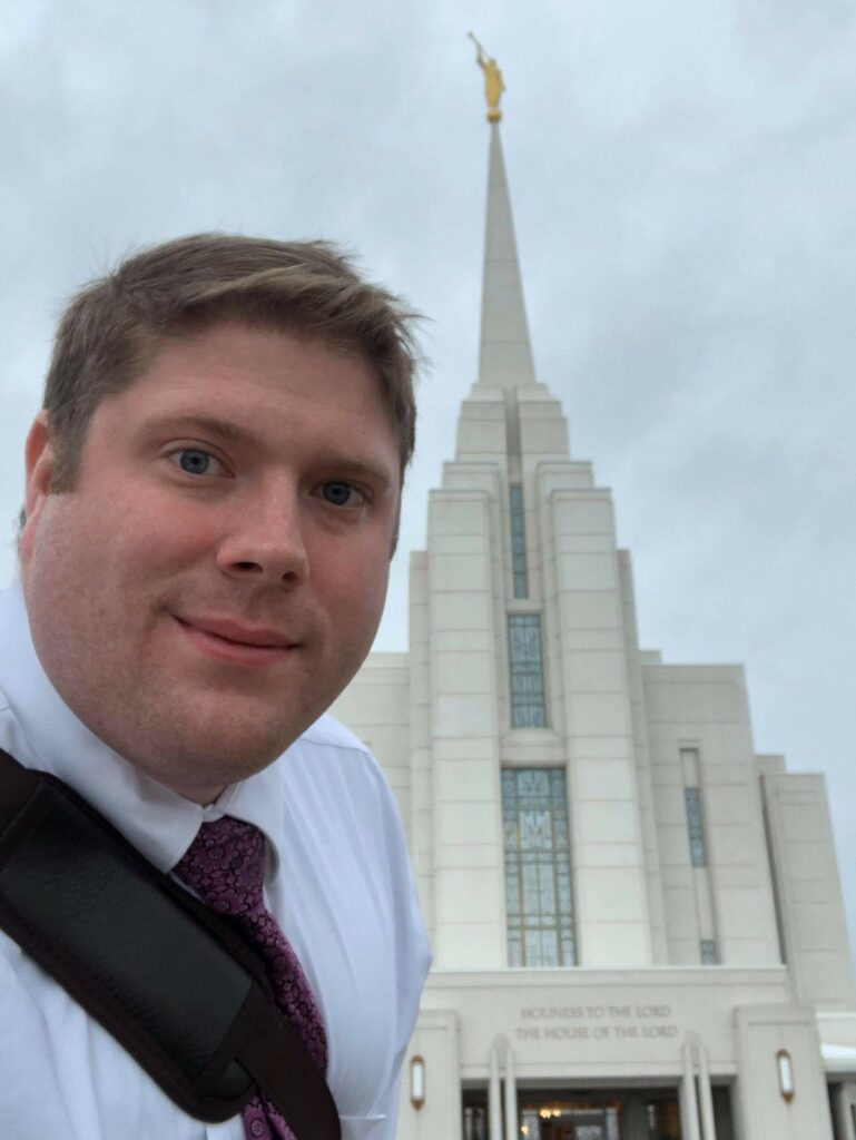 Alexander Walker attends the Rexburg Idaho Temple on March 14, 2020.