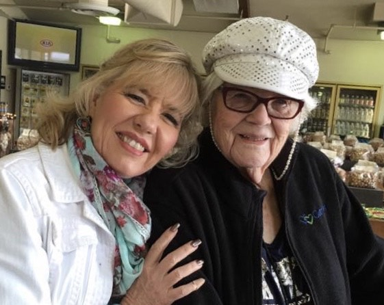 Deena King, left, is pictured with her aunt, Cleone Geddes, who lives in California.