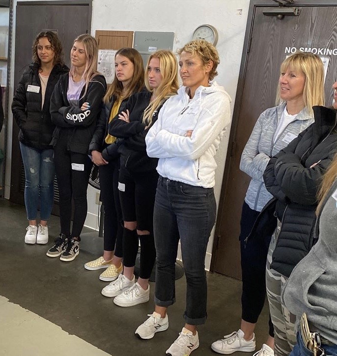 Latter-day Saints and other volunteers from the San Clemente, California, community receive instructions at the Family Assistance Ministries — a charitable organization serving people in need. Members connected with the Ministry through JustServe.org.