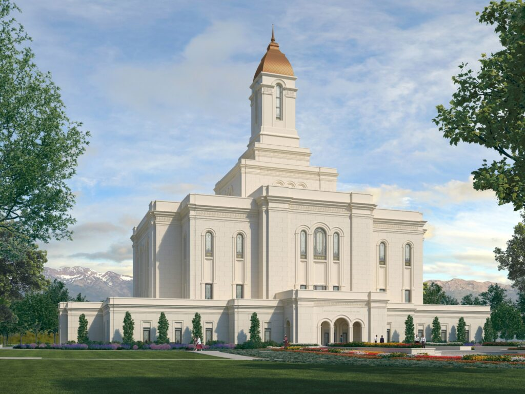 A rendering of the Tooele Valley Utah Temple.