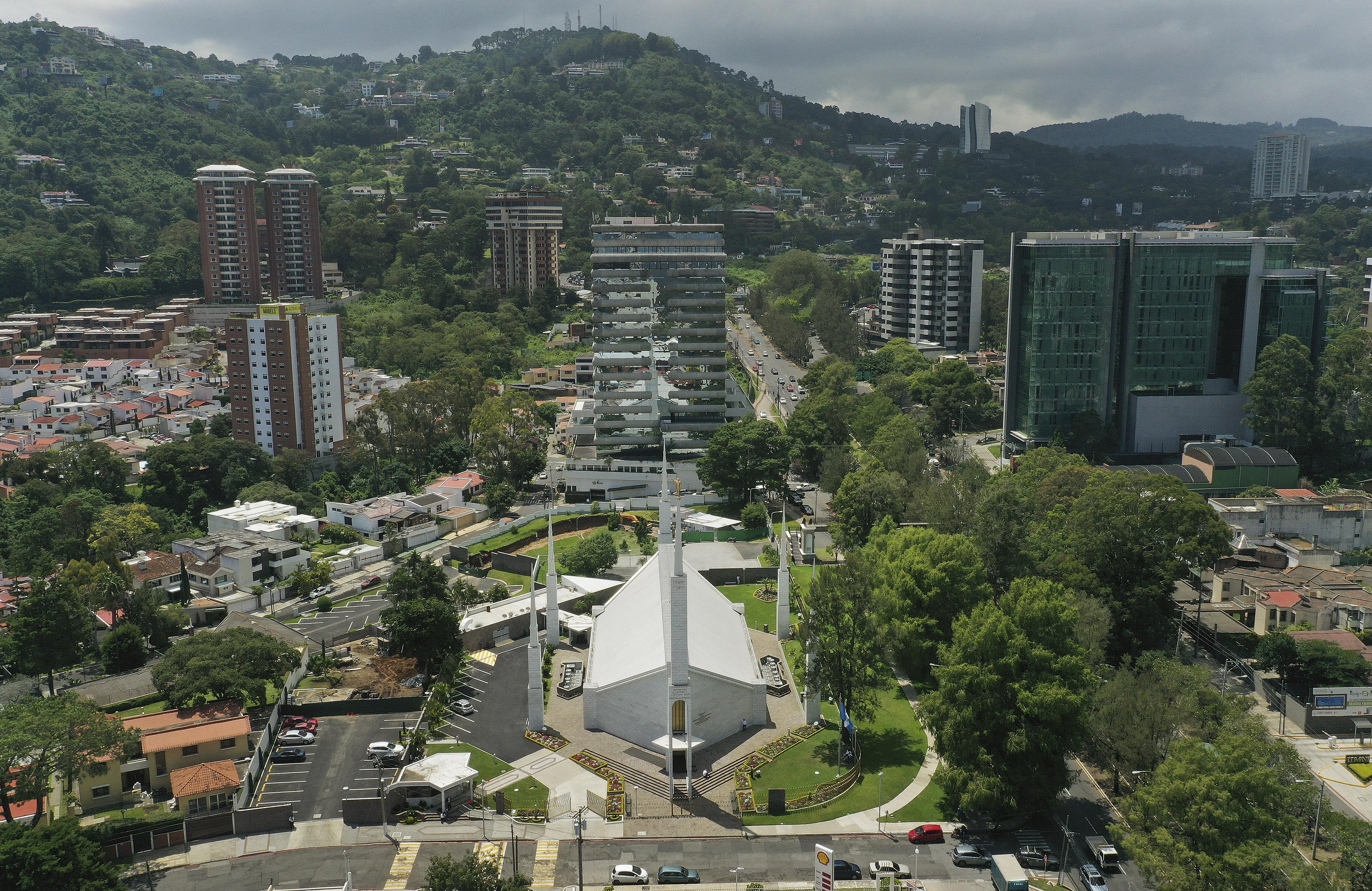 O Templo da Cidade da Guatemala Guatemala no sábado, 24 de agosto de 2019. O presidente Russell M. Nelson de A Igreja de Jesus Cristo dos Santos dos Últimos Dias falou em um devocional na Cidade da Guatemala.