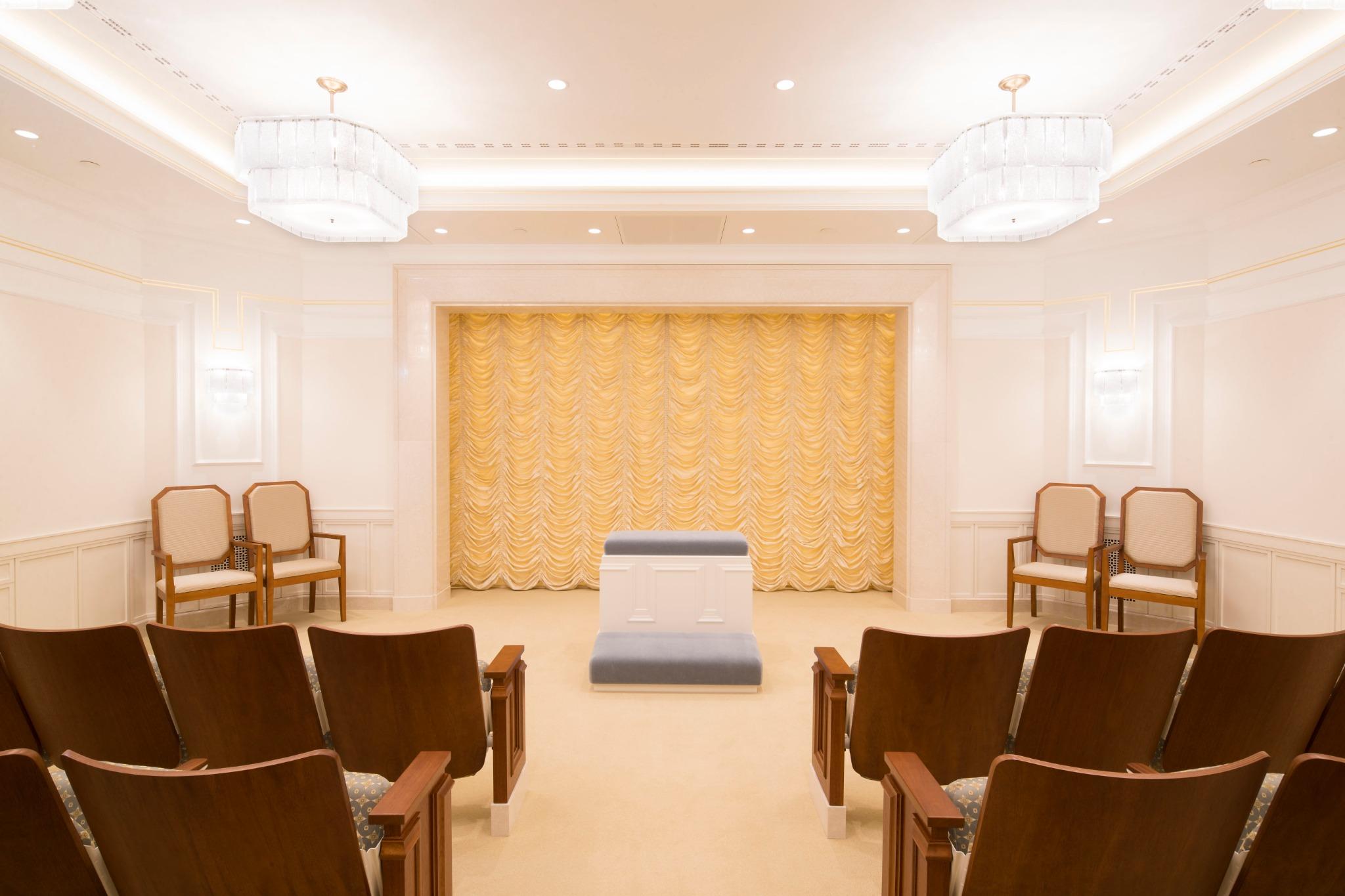 Sala de ordenanças no Templo de Frankfurt Alemanha.
