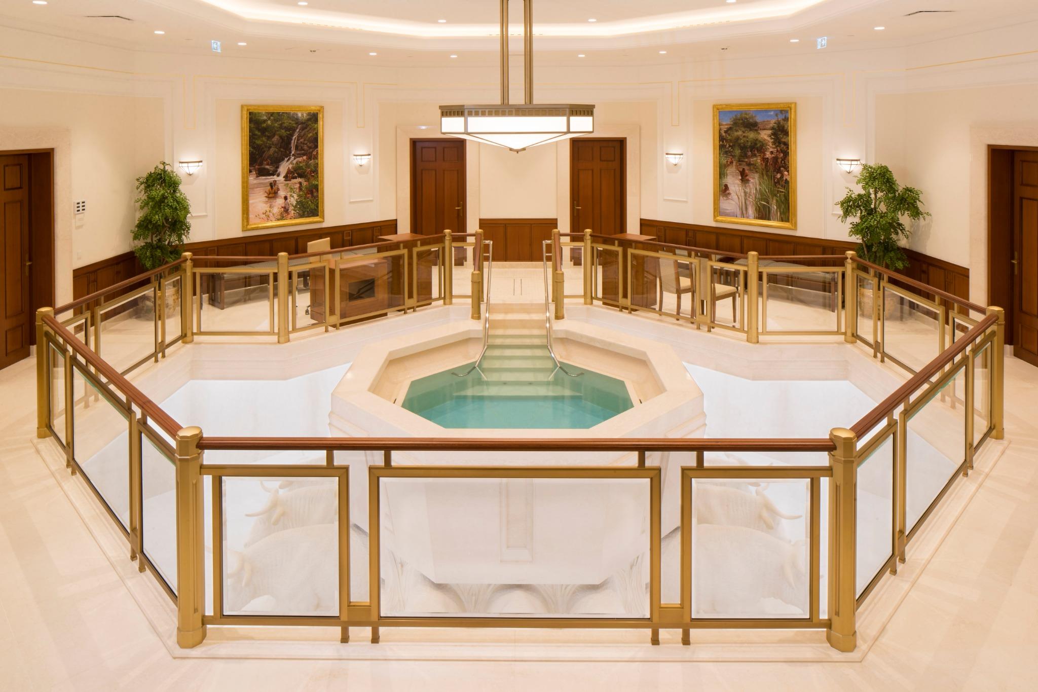 Batistério do Templo de Frankfurt Alemanha.