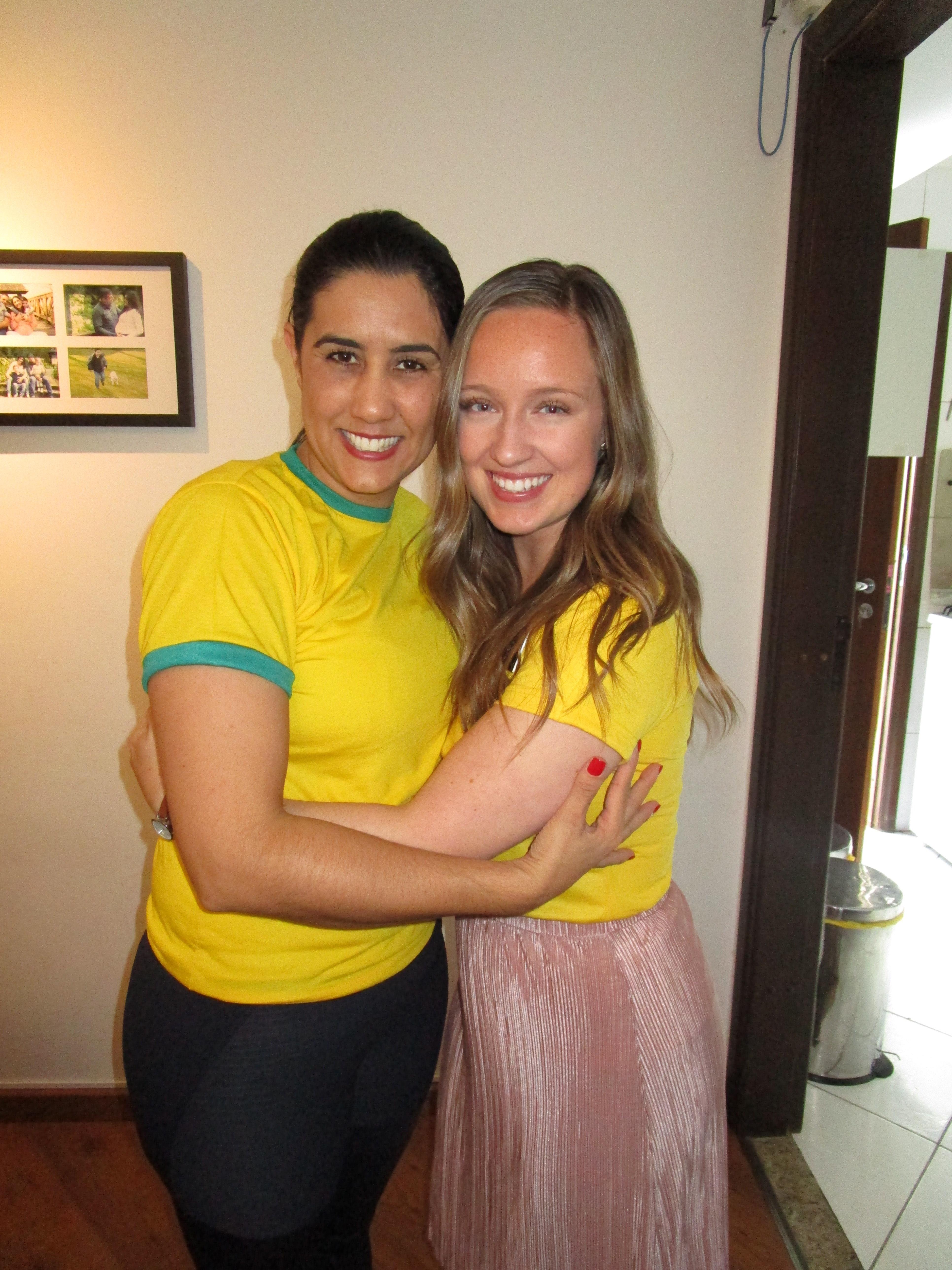 Andreia Rodrigues fez companhia para Monique McDown todos os dias após o acidente.