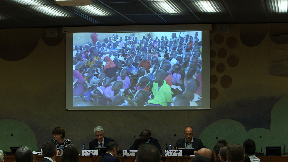 Serviços Humanitários Santos dos Últimos Dias organiza um evento na Organização das Nações Unidas em Genebra, Suíça, dia 17 de setembro, 2019.