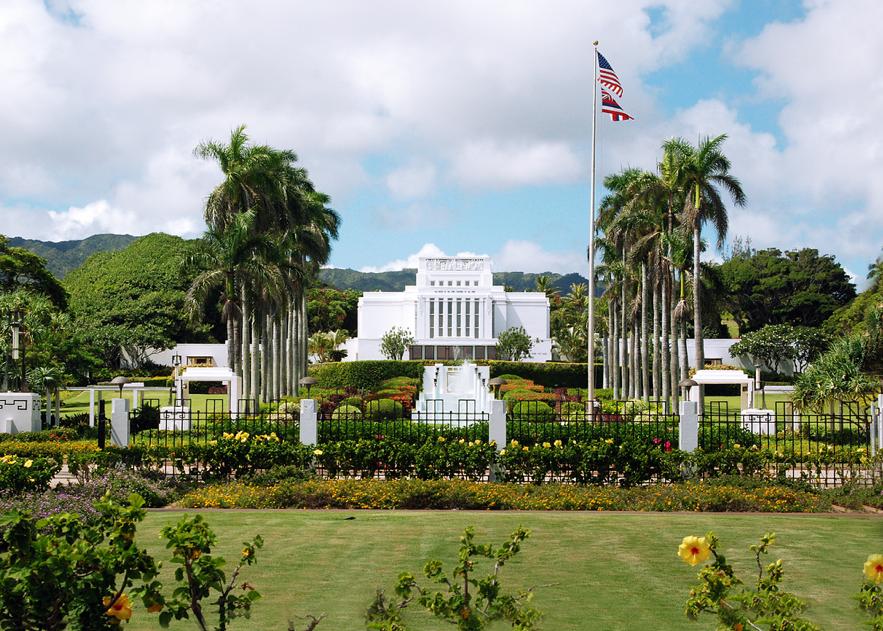 O Templo de Laie Havaí hoje serve aos Santos fiéis de Oahu, Kauai (o Templo de Kona Havaí tem servido ao resto do Havaí desde 2000) e das Ilhas Marshall no Pacífico Ocidental. Quando abriu pela primeira vez em 1919, ele serviu a todo o Havaí, as ilhas do Pacífico Sul e a Ásia.