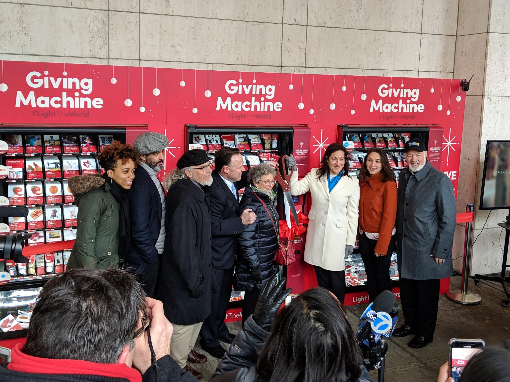 Uma máquina de doação na cidade de Nova York.