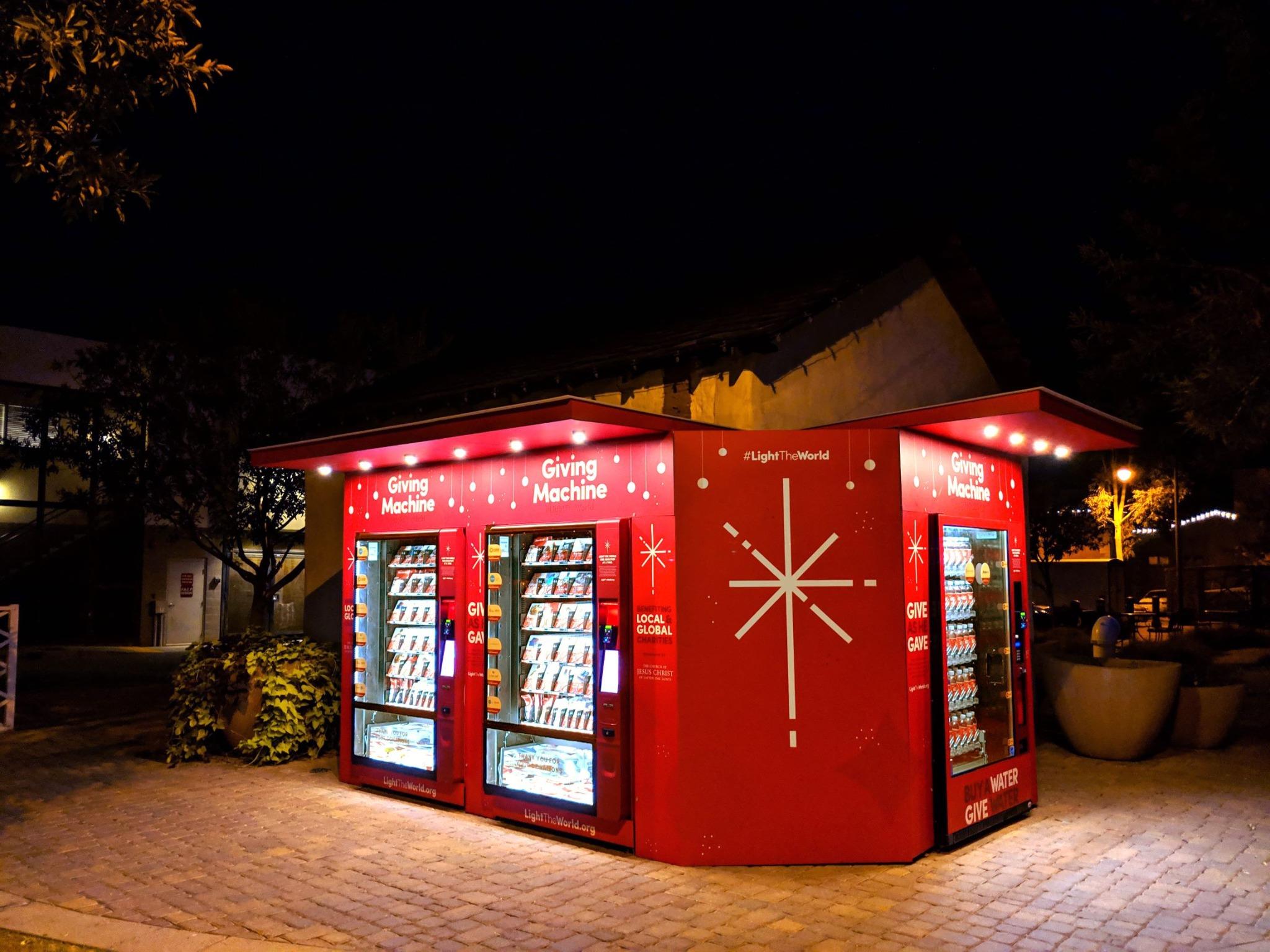 Uma máquina de doação em Gilbert, Arizona.