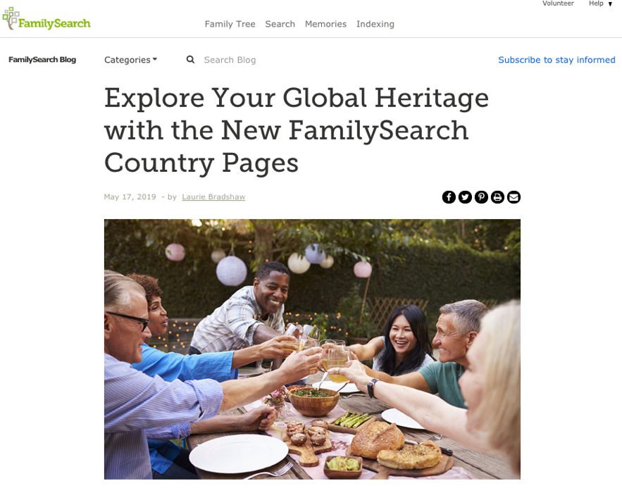 O FamilySearch está criando páginas dos países com recursos específicos para cada país, incluindo informações históricas, coleções de registros e dicas para a compreensão de pesquisa.