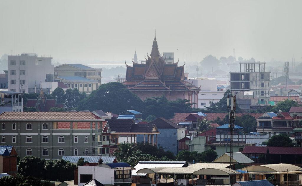 O horizonte de Phnom Penh no Camboja na terça, dia 19 de novembro, 2019.
