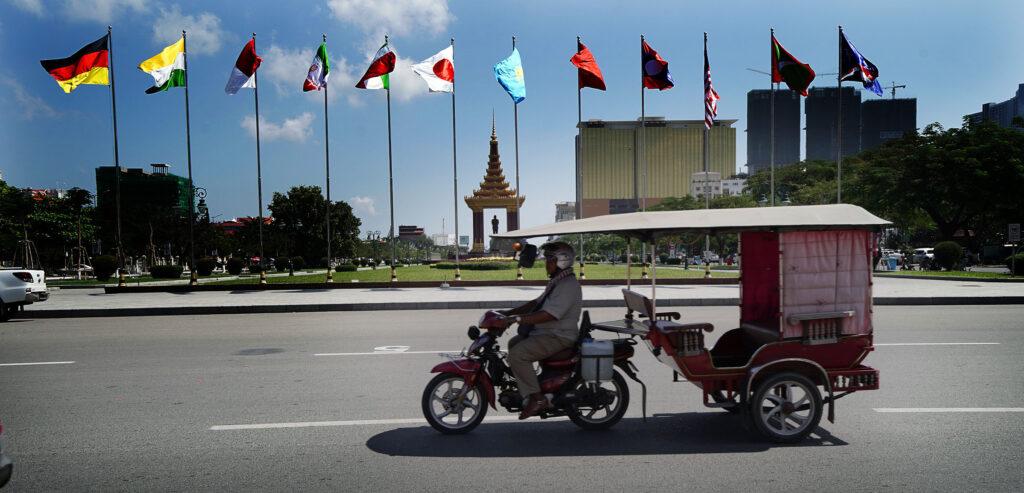 Uma cena da rua em Phnom Penh no Camboja na terça, dia 19 de novembro, 2019.