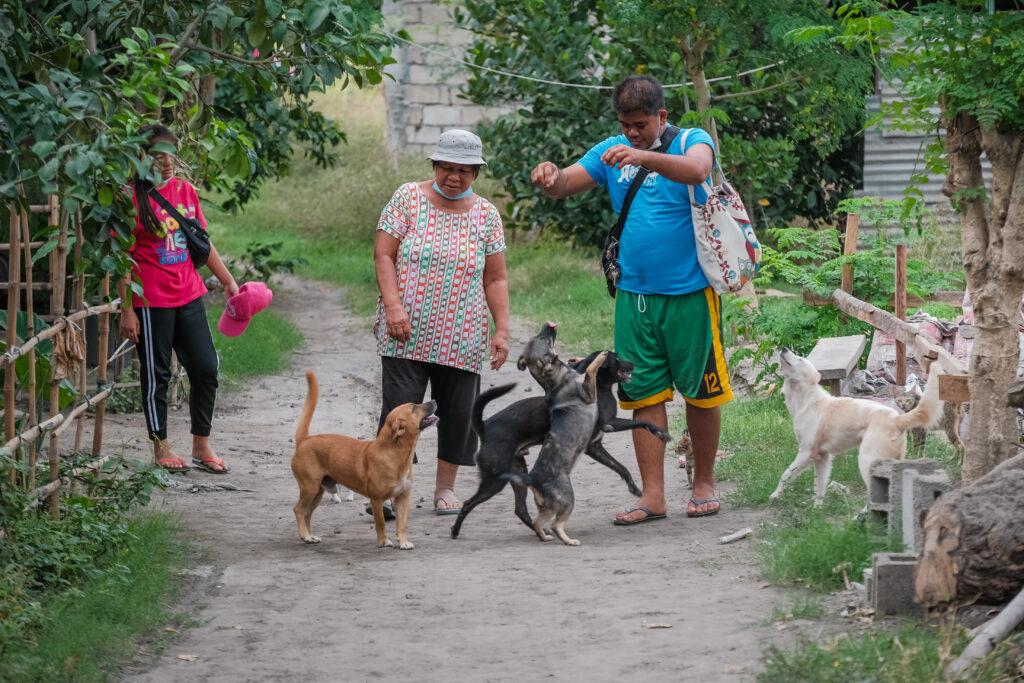 Os membros do Ramo Lemery que tiveram que abandonar suas casas, perto do vulcão Taal, retornam para sua vizinhança em Lemery, Filipinas, na quinta-feira, 6 de fevereiro de 2020.