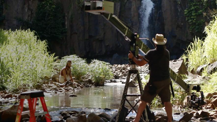 Uma imagem dos bastidores das filmagens dos vídeos do Livro de Mórmon, que abrangem os livros de Mosias e Alma.