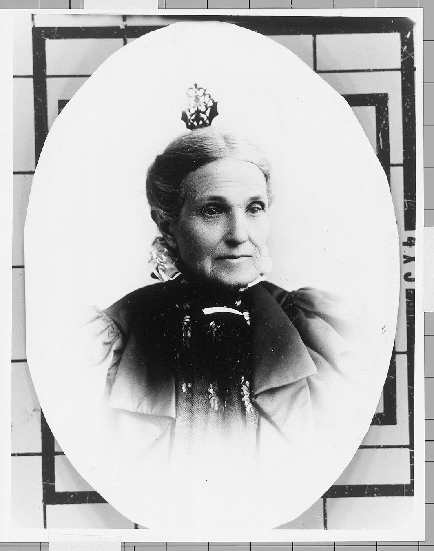Fotografía del retrato de Aurelia Spencer Rogers, la fundadora de la Primaria.