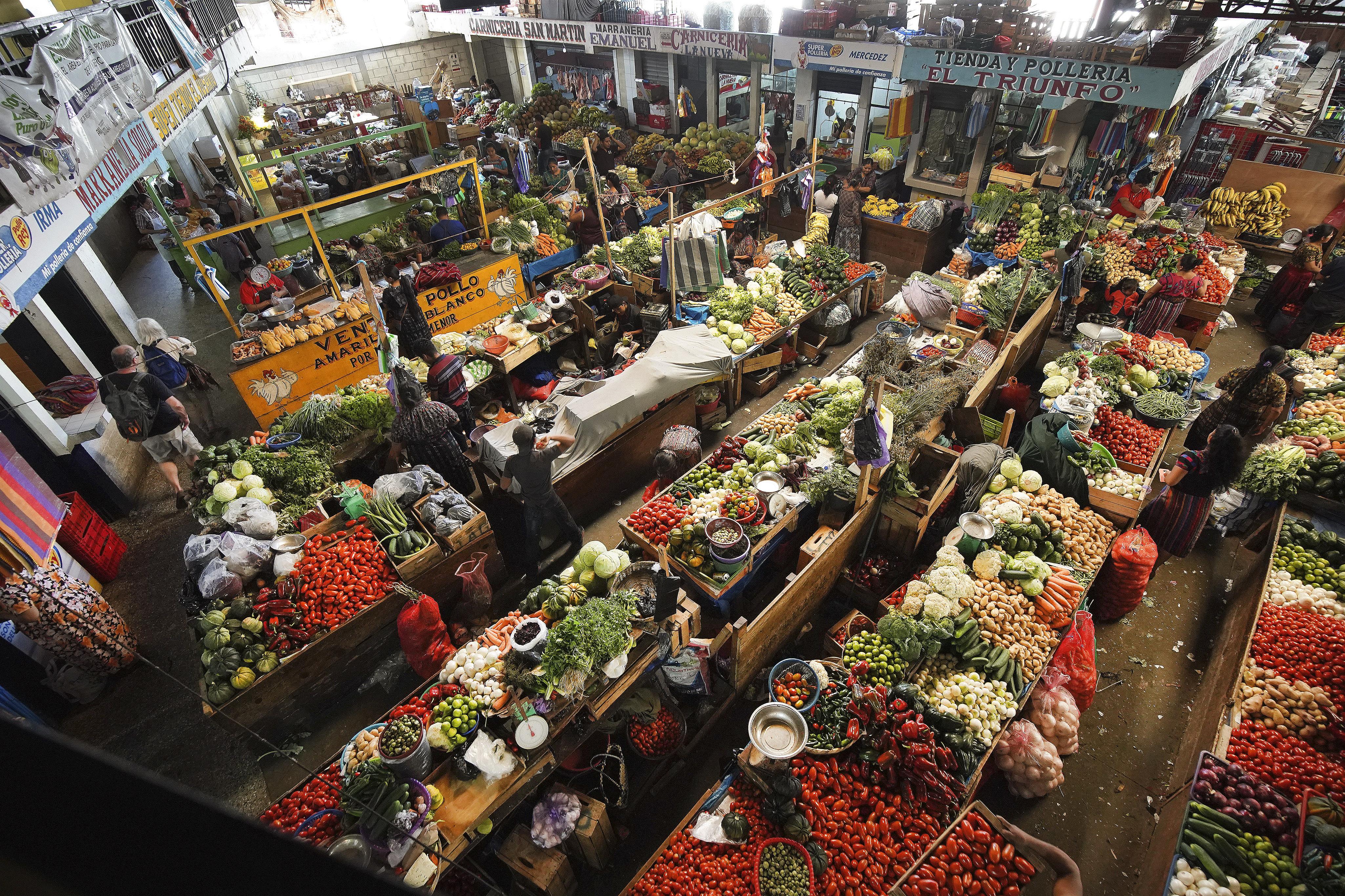Mercado de Panajachel, Guatemala, el martes 20 de agosto de 2019. El presidente Russell M. Nelson de La Iglesia de Jesucristo de los Santos de los Últimos Días habló en un devocional en la Ciudad de Guatemala el sábado 24 de agosto.
