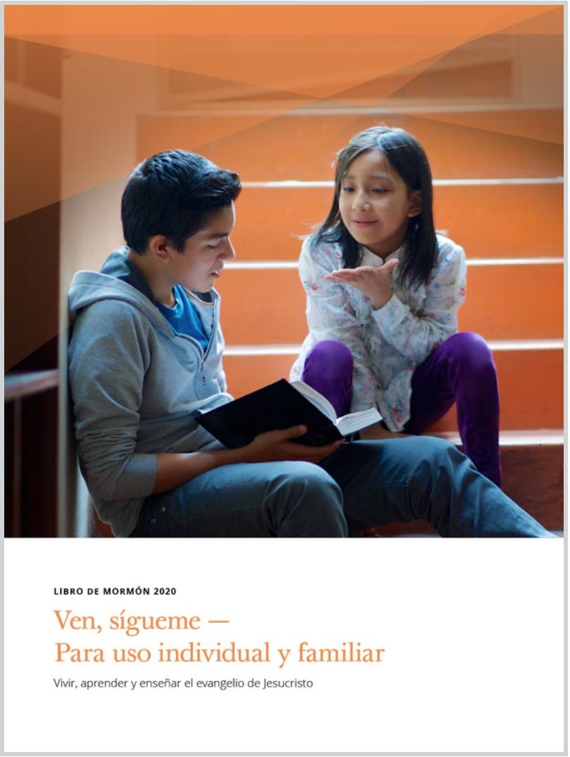 """""""Ven, sígueme"""" para 2020 se enfocará en el estudio del Libro de Mormón. Los manuales ya están disponibles en línea y en la aplicación de la Biblioteca del Evangelio."""