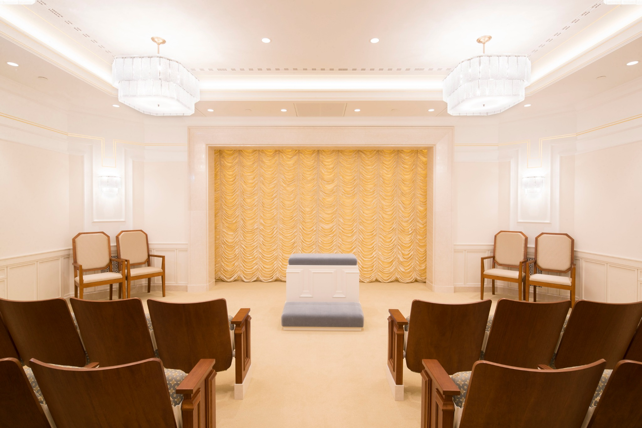 Una sala de ordenanzas en el Templo de Frankfurt Alemania.
