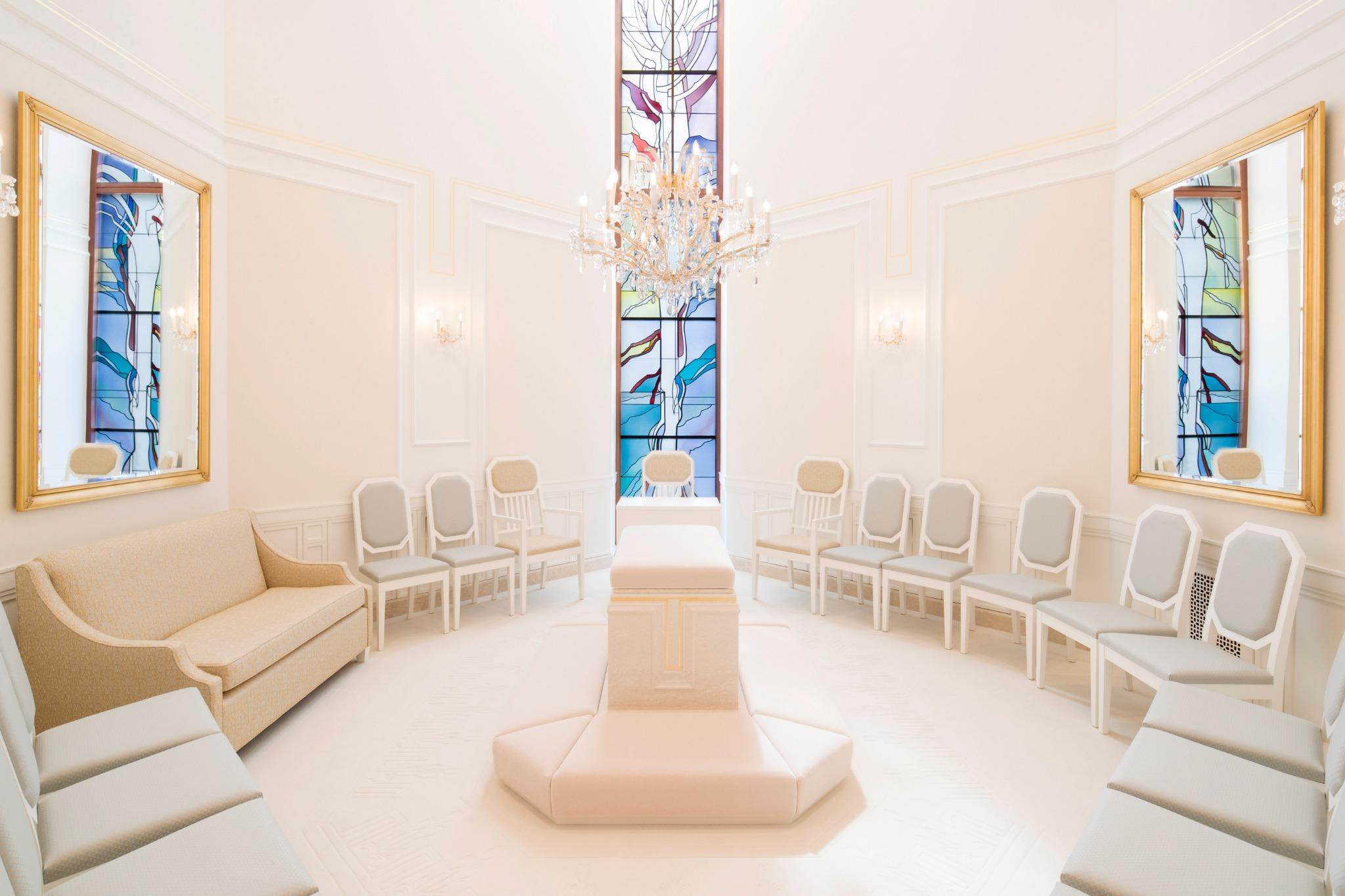 Una sala de sellamientos en el Templo de Frankfurt Alemania.