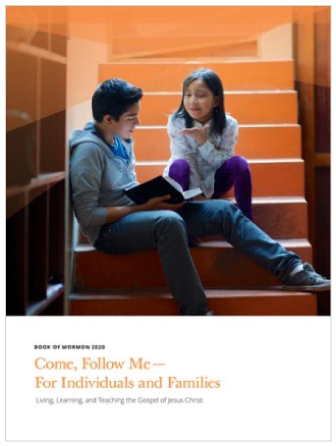 """""""Ven, sígueme"""" para 2020 se centrará en el estudio del Libro de Mormón. Los manuales para uso individual y familiar, la Escuela Dominical y la Sociedad de Socorro están disponibles ahora en línea o en la aplicación Biblioteca del Evangelio."""