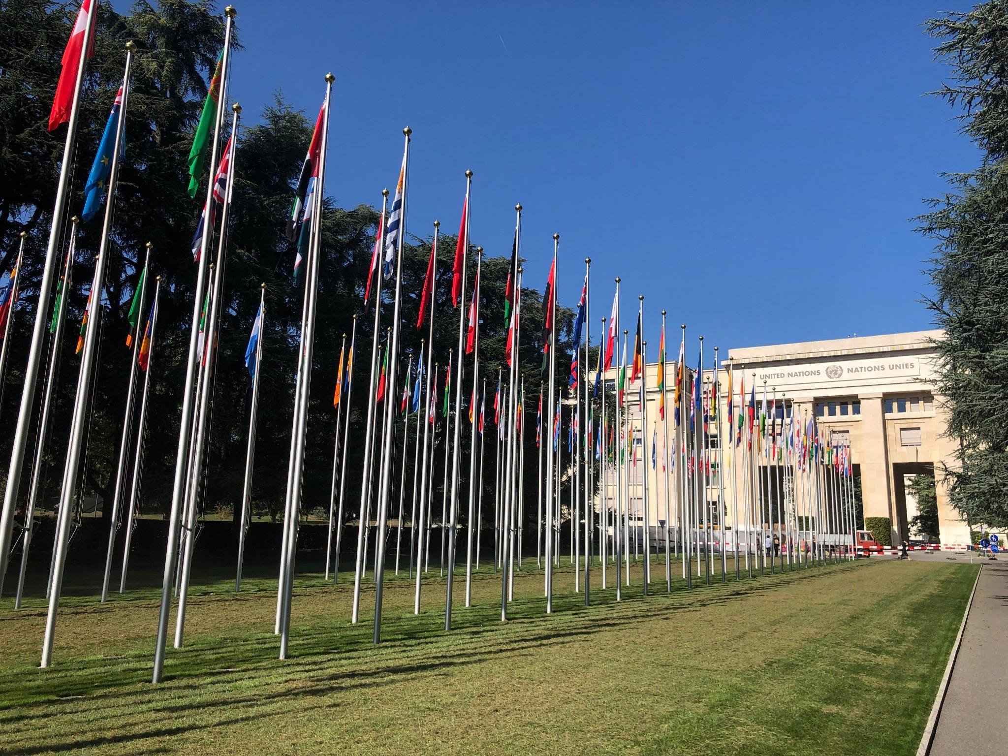 Una delegación mundial de líderes religiosos y de caridad se reúne en Ginebra, Suiza, el 17 de septiembre de 2019.