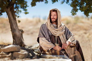 """Un video muestra una escena de Jesús en el pozo donde enseñó a una mujer samaritana sobre """"el agua viva"""", tal como está registrado en Juan 4:5-29."""