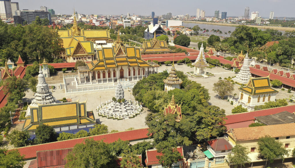 El Palacio Real de Nom Pen, Camboya, el 19 de noviembre de 2019.