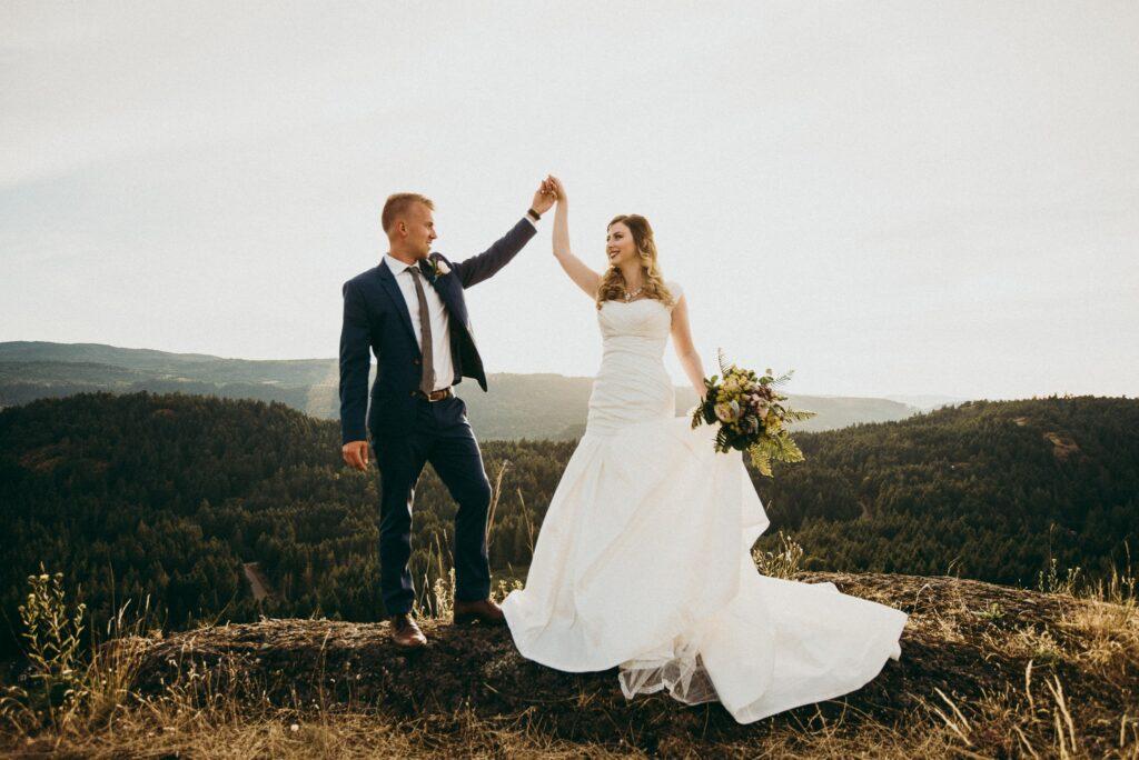 Brayden y Laura Faganello se casaron el 14 de julio de 2016.