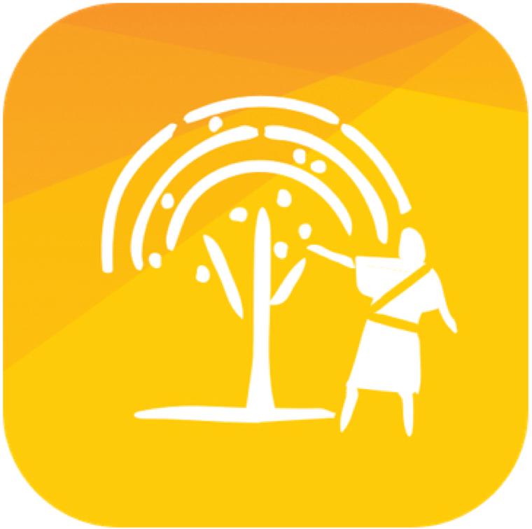 El logo de la nueva aplicación móvil interactiva que utiliza la realidad aumentada para ayudar a los jóvenes y niños a aprender sobre la visión de Lehi sobre el árbol de la vida, que se encuentra en el Libro de Mormón.