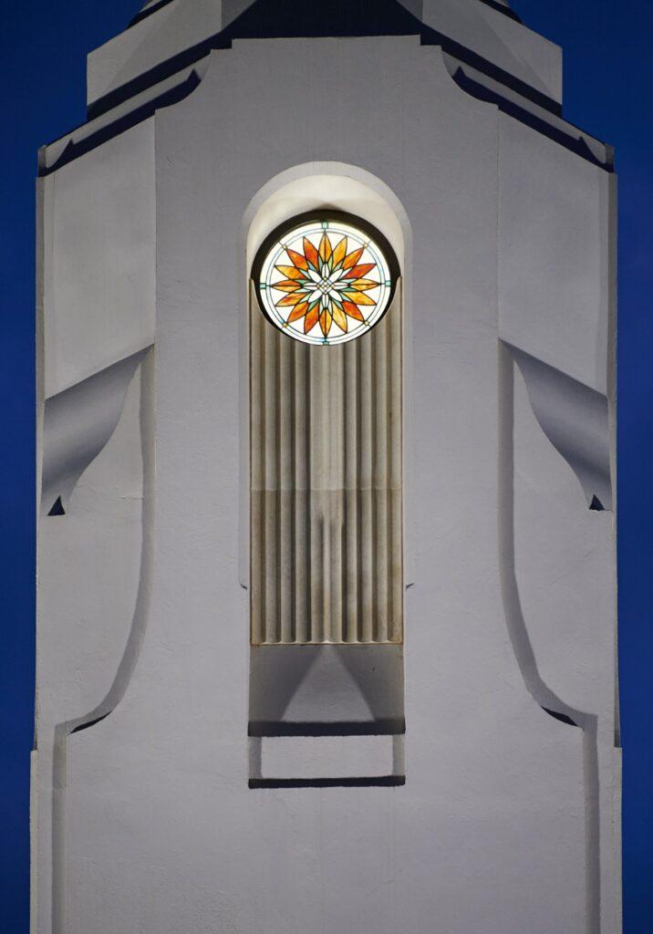 Detalles de la decoración del Templo de Durban, Sudáfrica.