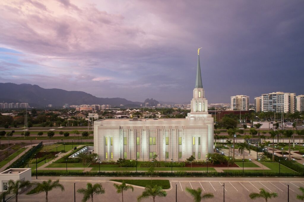 El Templo de Río de Janeiro, Brasil.