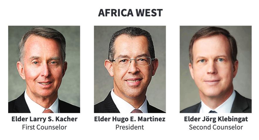 La presidencia del Área África Oeste en 2020.