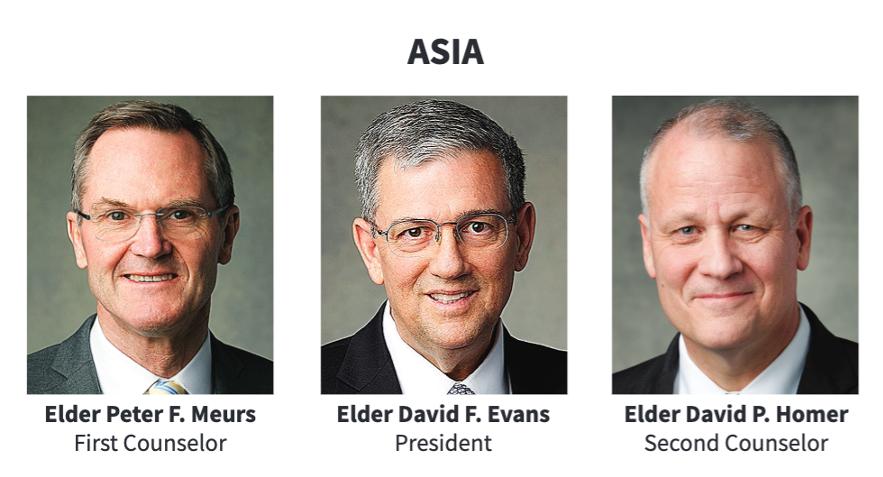 La presidencia del Área Asia en 2020.