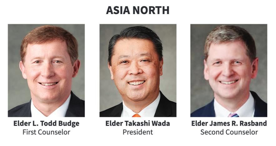 La presidencia del Área Asia Norte en 2020.